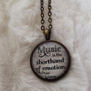 Jewelry - New inspirational music necklace
